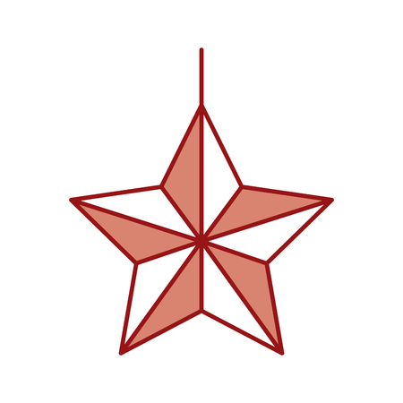 christmas star isolated icon vector illustration design Illustration