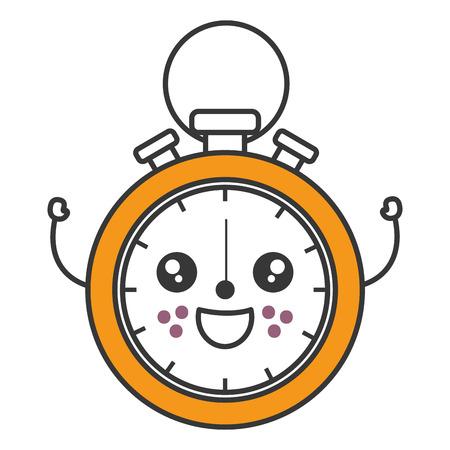 chronometer measure character vector illustration design