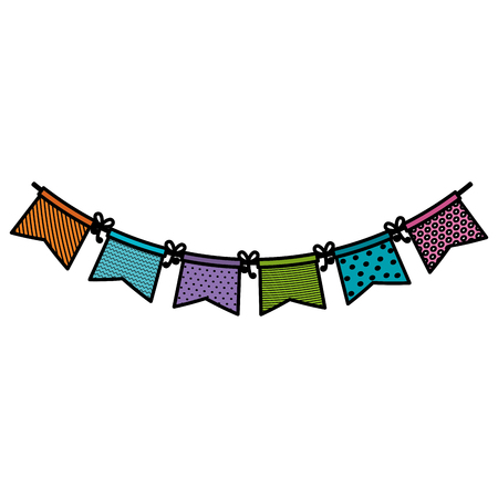 A garlands party decoration icon vector illustration design. Ilustrace