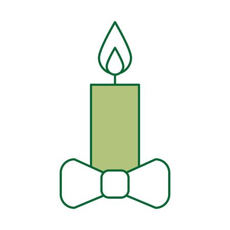 Diseño aislado Navidad del ejemplo del vector del icono de la vela Foto de archivo - 84743203