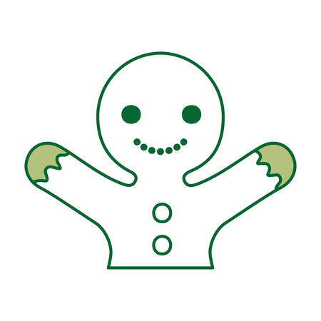 ginger cookie christmas icon vector illustration design Ilustração