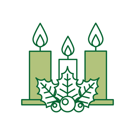 Vela de navidad aislado icono de ilustración vectorial de diseño Foto de archivo - 84748220