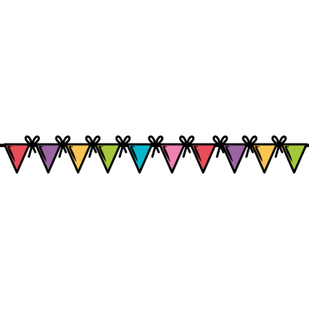 garlands party decoration icon vector illustration design 向量圖像