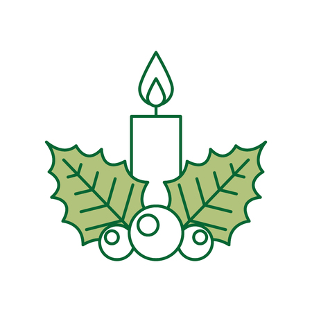 advent candles: candle christmas isolated icon vector illustration design Illustration