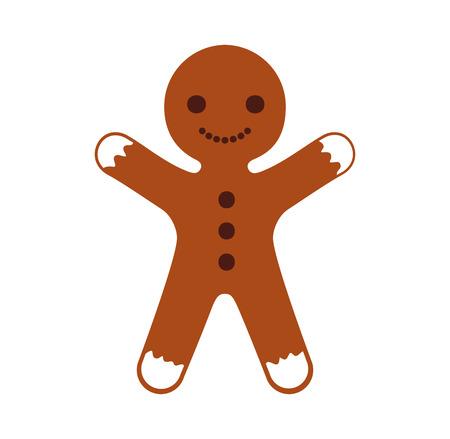 생강 쿠키 크리스마스 아이콘 벡터 일러스트 디자인