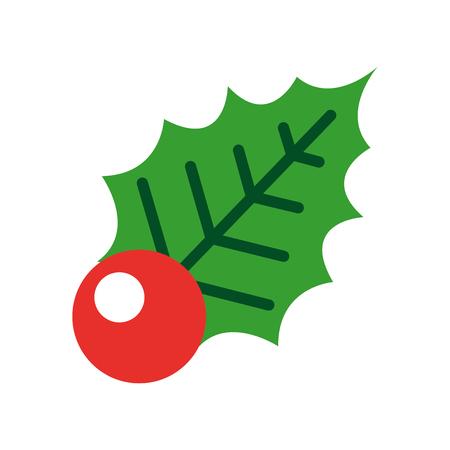 christmas decorative leaf icon vector illustration design Фото со стока - 84748169