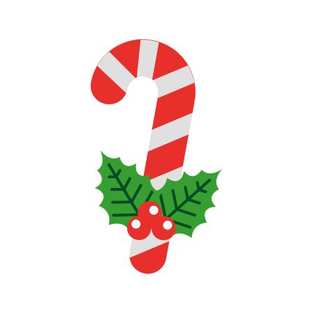 sweet christmas cane icon vector illustration design