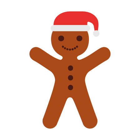Ginger cookie christmas icon vector illustration design