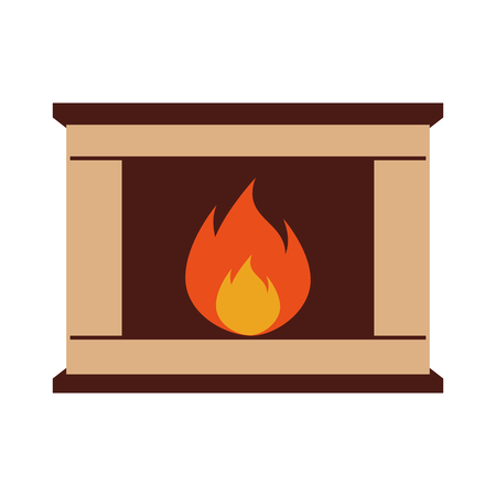 Christmas chimney isolated icon vector illustration design