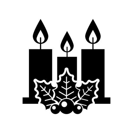Aislado candelabro candente icónico ilustración vectorial Foto de archivo - 84748010
