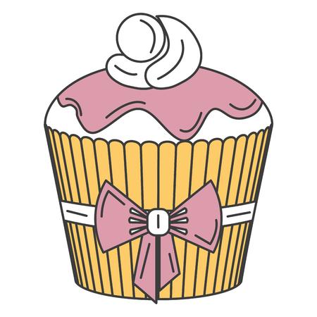 delicious cupcake bakery icon vector illustration design Imagens - 84747529
