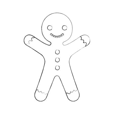 Ingwerplätzchenweihnachtsikonenvektor-Illustrationsdesign Standard-Bild - 84747499