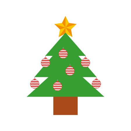 pine tree isolated icon vector illustration design Stock Vector - 84747506