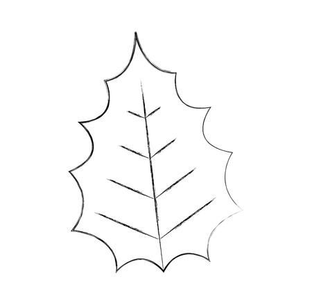 christmas decorative leaf icon vector illustration design Ilustrace