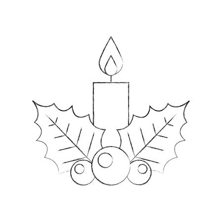 Aislado candelabro candente icónico ilustración vectorial Foto de archivo - 84746806