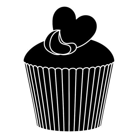 A delicious cupcake bakery icon vector illustration design.