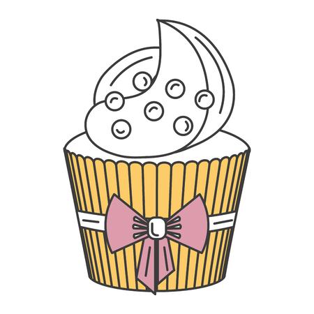 delicious cupcake bakery icon vector illustration design Imagens - 84746837