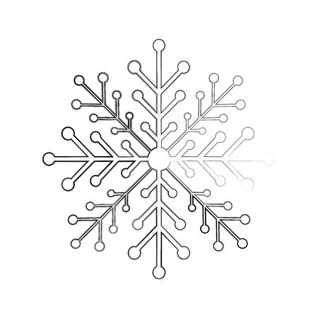 Sneeuwvlok geïsoleerd pictogram vector illustratie ontwerp Stockfoto - 84746712