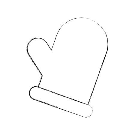 christmas glove isolated icon vector illustration design Ilustração