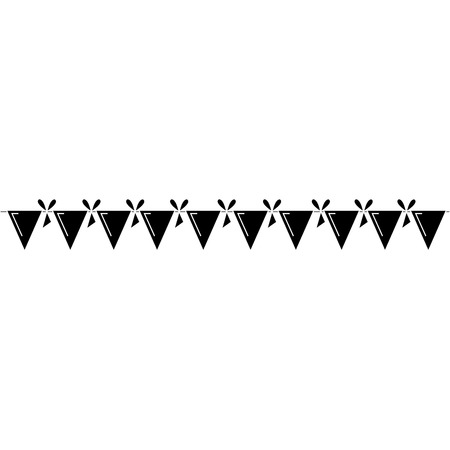 garlands party decoration icon vector illustration design Ilustracja