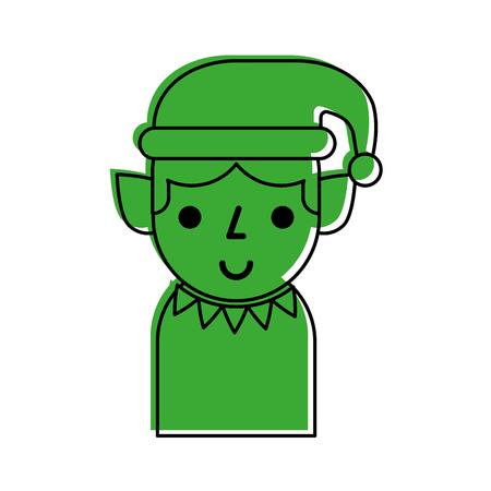 Weihnachtself Avatar Charakter Vektor Illustration design Standard-Bild - 84746485