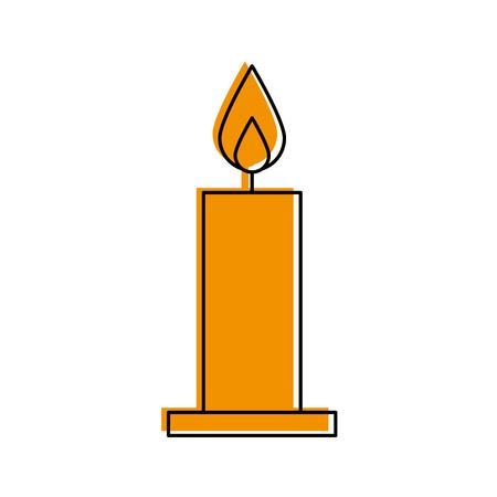 Aislado candelabro candente icónico ilustración vectorial Foto de archivo - 84750936