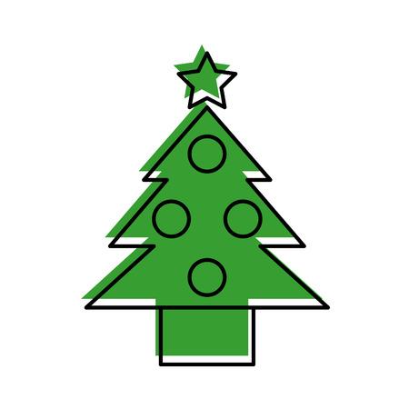 pine tree isolated icon vector illustration design Stock Vector - 84743327
