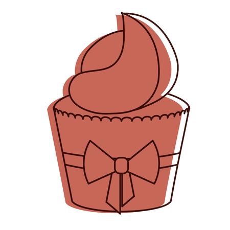 delicious cupcake bakery icon vector illustration design