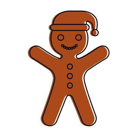 Ingwer Cookie Weihnachten Symbol Vektor-Illustration, Design, Standard-Bild - 84746447