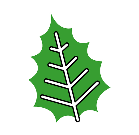 christmas decorative leaf icon vector illustration design Illustration