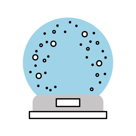 Decorative crystal ball icon vector illustration design
