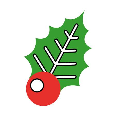christmas decorative leaf icon vector illustration design Фото со стока - 84743380
