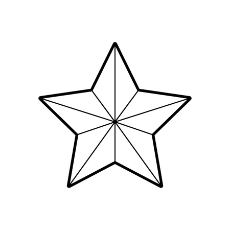 Christmas star isolated icon vector illustration design