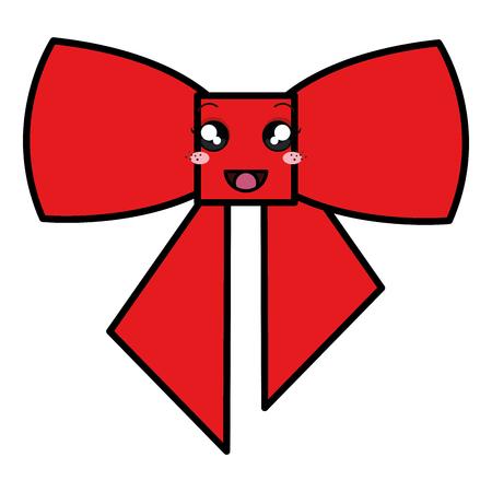 ribbon bow decorative   character vector illustration design