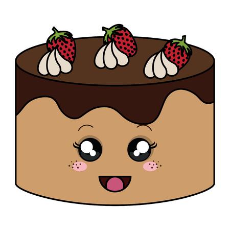おいしいケーキ ベーカリー文字ベクトル イラスト デザイン