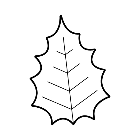 Christmas decorative leaf icon vector illustration design