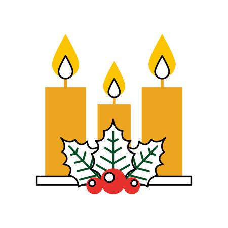 Diseño aislado Navidad del ejemplo del vector del icono de la vela Foto de archivo - 84745379