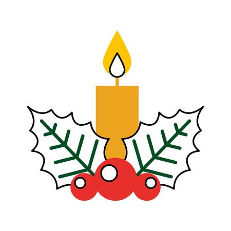 Diseño aislado Navidad del ejemplo del vector del icono de la vela Foto de archivo - 84745385