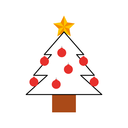 Pine tree isolated icon vector illustration design Illustration