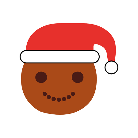 Ginger cookie christmas icon vector illustration design Imagens - 84746248