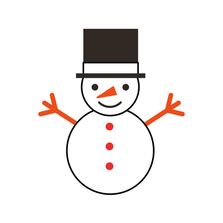 snowman character isolated icon vector illustration design