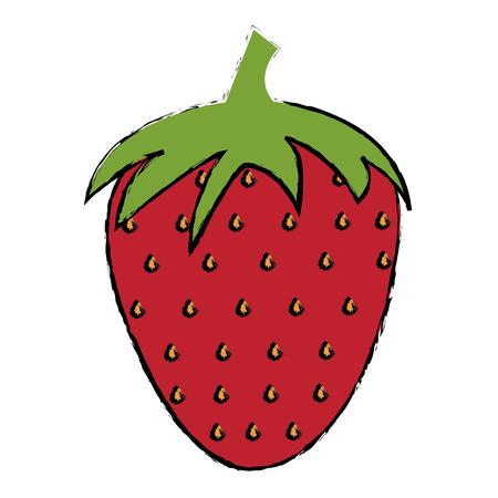 Strawberry fresh fruit icon vector illustration design