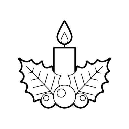 Candle christmas isolated icon vector illustration design