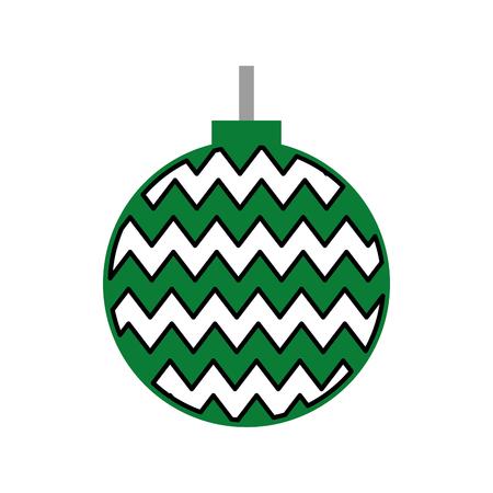 hung: christmas ball isolated icon vector illustration design