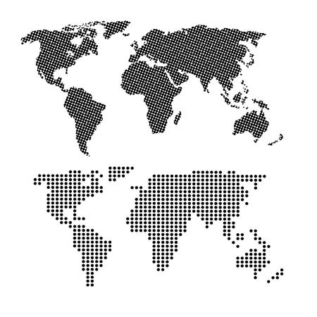 세계 infographic 점선지도 정보 네트워크 벡터 일러스트 레이션