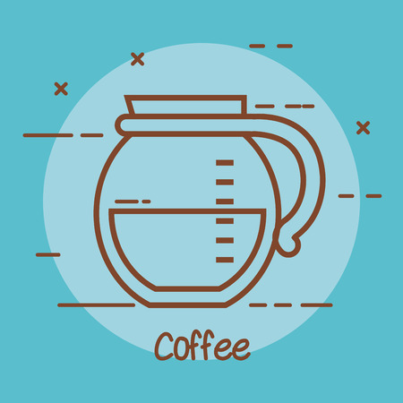coffee maker glass jar with handle design vector illustration