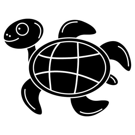 귀여운 거북이 문자 아이콘 벡터 일러스트 디자인