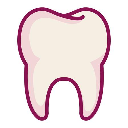 Het schone tand geïsoleerde ontwerp van de pictogram vectorillustratie Stock Illustratie
