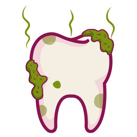 tooth dirty isolated icon vector illustration design