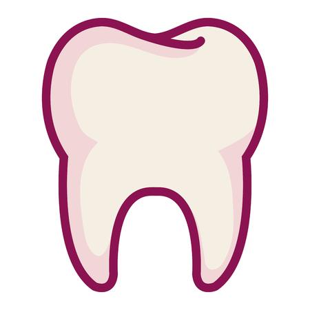 きれいな歯は、アイコン ベクトル イラスト デザインを分離しました。 写真素材